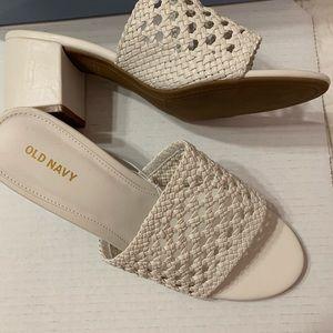 new Old Navy faux raffia braided sandals
